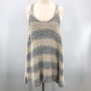 Free People Open Thick Knit Sleeveless Shell Top L